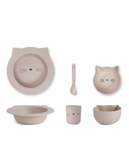 Ensemble bébé Barbara Bamboo - Chat rose