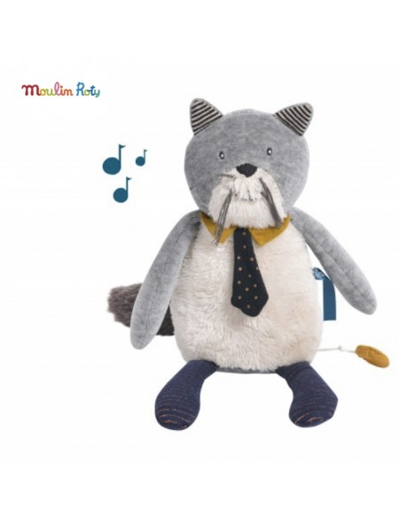Peluche musicale chat Fernand Les Moustaches Moulin Roty