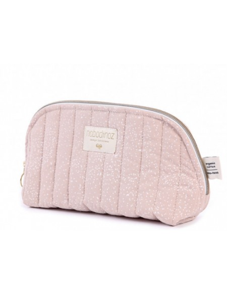Trousse de toilette Holiday white bubble misty pink LARGE