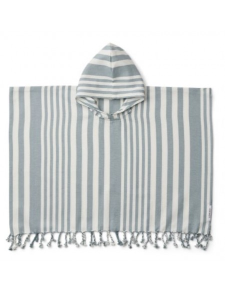 Roomie poncho sea blue liewood