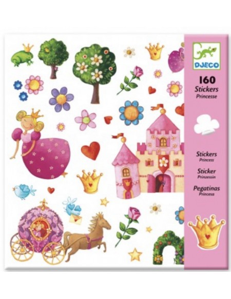 160 stickers princesses