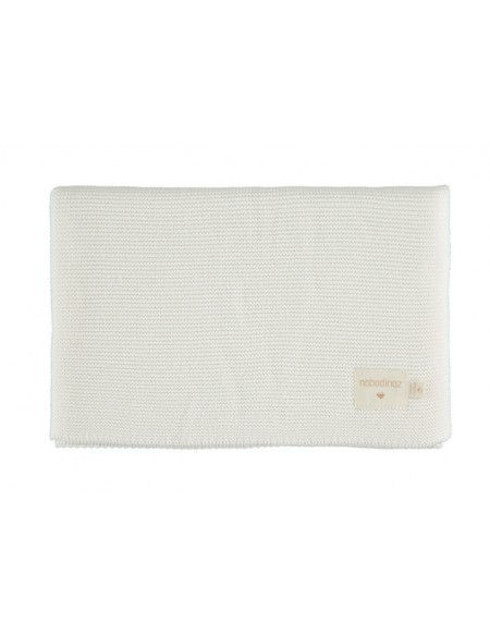 Couverture So Natural en tricot • milk