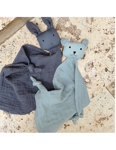 Lange doudou Yoko Mini Cuddle Cloth Lot de 2 - Bleu mix