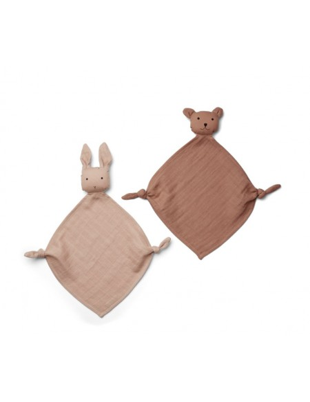 Lange doudou Yoko Mini Cuddle Cloth Lot de 2 - Rose mix