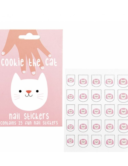 "Autocollants Pour Ongles ""Cookie The Cat"""