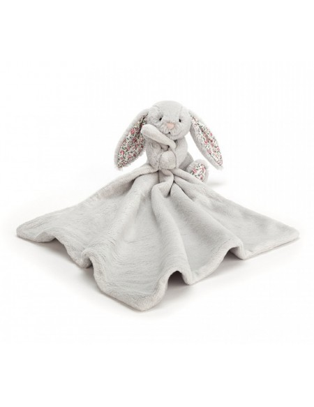 Blossom silver bunny soother lapin gris liberty mouchoir