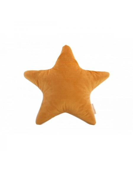 Coussin Aristote star velvet cushion yellow