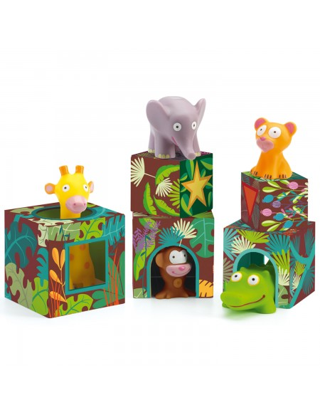 5 cubes et animaux maxi Topanijungle