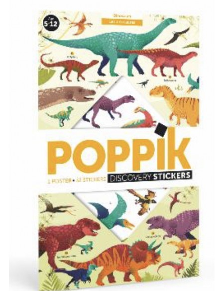 Poster géant + 32 stickers  DINOSAURES