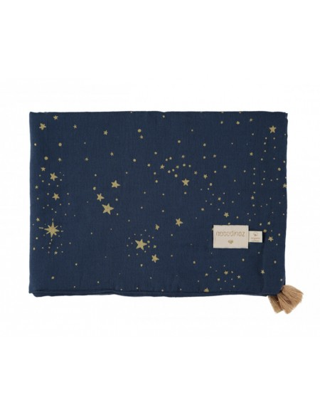 COUVERTURE D ÉTÉ TREASURE SUMMER BLANKET GOLD STELLA NIGHT BLUE