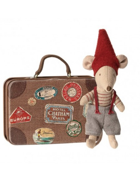 christmas mouse in suitcase Maileg