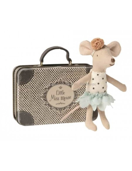 little miss mouse in suitcase Maileg