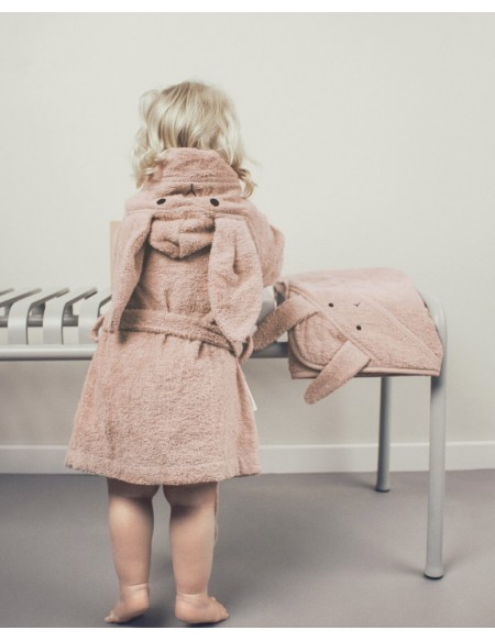 PEIGNOIR LILY BATHROBE RABBIT ROSE