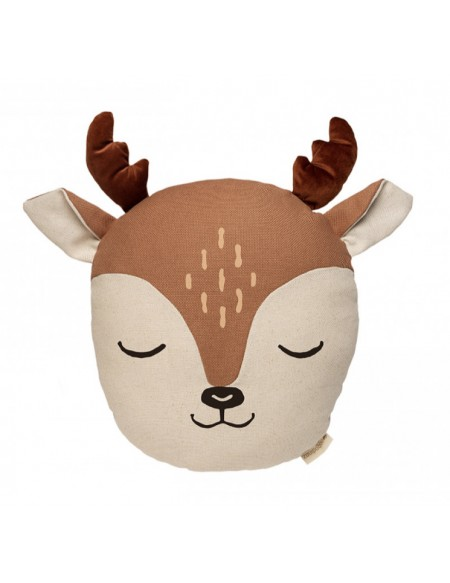 Coussin Deer Sienna brown