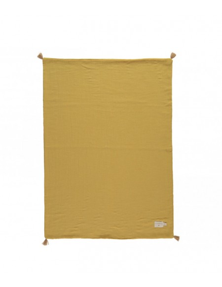 COUVERTURE D'ÉTÉ TREASURE SUMMER BLANKET FARNIENTE YELLOW