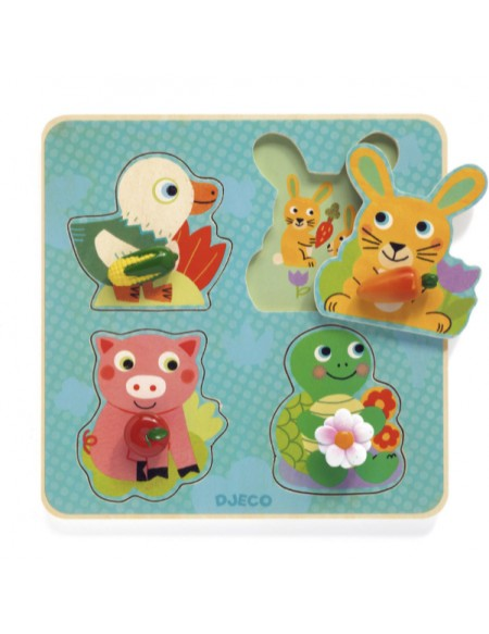 Croc-Carrot Puzzle Gros Boutons