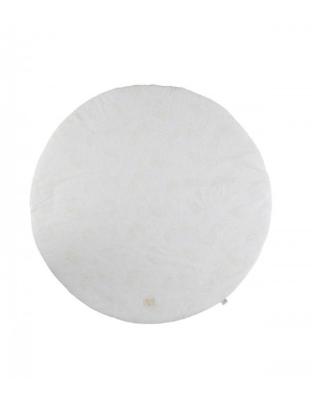 Tapis de jeu rond Full Moon small 105x105 gold bubble/ white