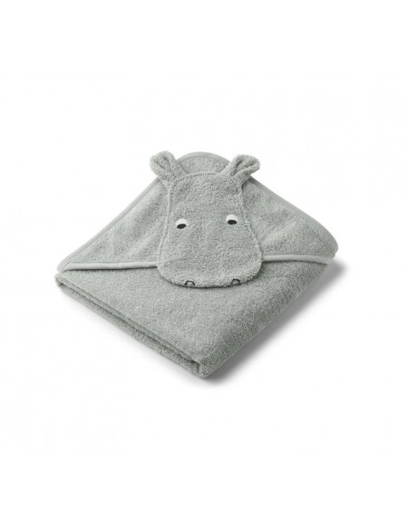 Sortie de bain Albert hooded hippo dove