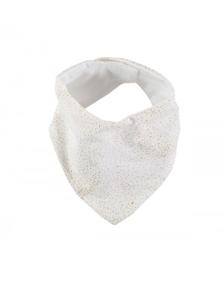 Bavoir bandana Lucky bib gold bubble/ white