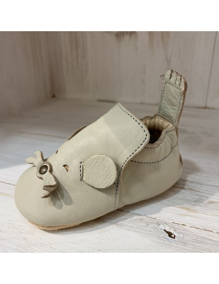 CHAUSSONS EASY PEASY BLUBLU MOUSE CREME