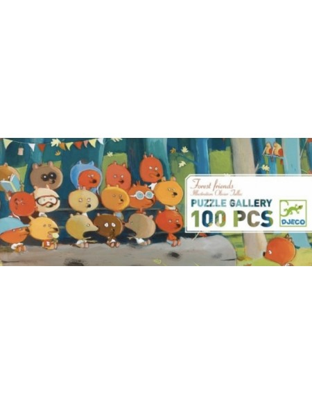 Puzzle gallery Forest friends 100 pièces - Djeco