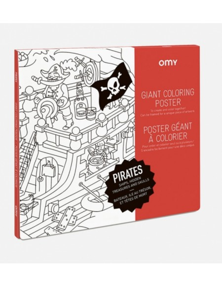 POSTER A COLORIER - PIRATES