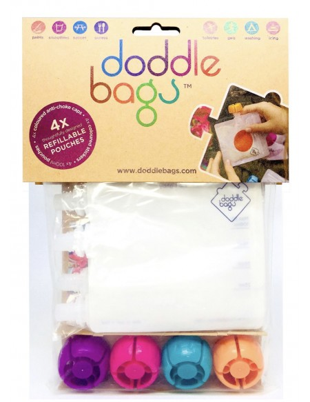 PACK X4 GOURDES REUTILISABLES DODDLE BAGS 100ml