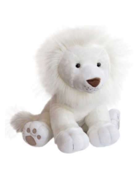 Peluche Lion des neiges (40 cm)