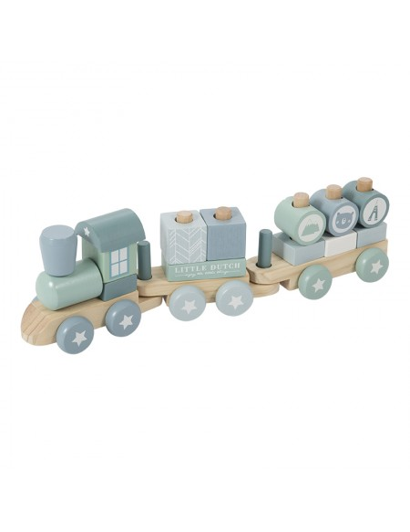 Train de construction Adventure blue