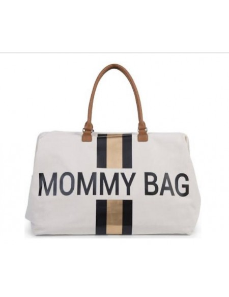 Sac à langer Mommy Bag Canvas blanc et or Childhome