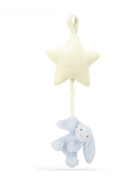 Pull Musical Bashful Blue Bunny Star