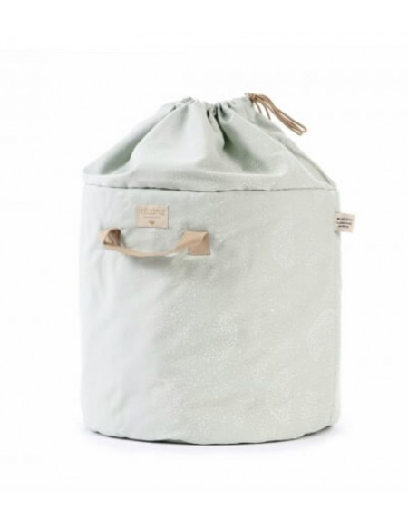 Sac à jouets Bamboo white bubble/ aqua SMALL