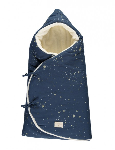 Nid d'ange d'hiver Cozy 0-3 M gold stella/ night blue