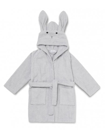 Peignoir Lily - Lapin dumbo gris taille 5-6 ans